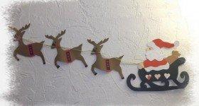 Père Noël avec traineau